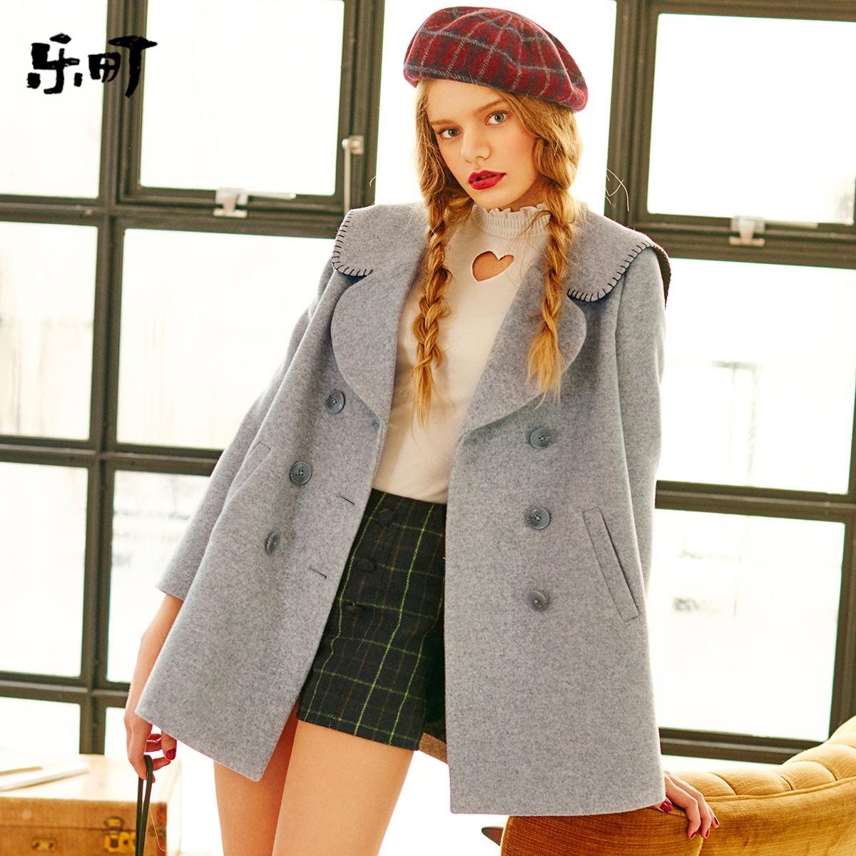乐町毛呢外套女装质量怎么样,是什么牌子