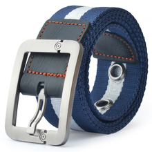Belt belt male bump color agio lap alloy needle woven nylon canvas leisure joker extended student youth