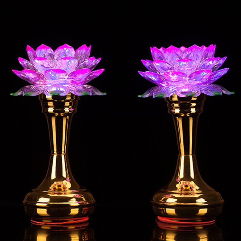 Будда учить статьи оптовая торговля для будда LED красочный лотос свет долго маяк будда для свет будда инструмент будда зал статьи бесплатная доставка