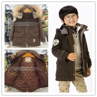 Domestic counter 1698 yuan boys real fur collar cashmere quilted coat jacket support inspection