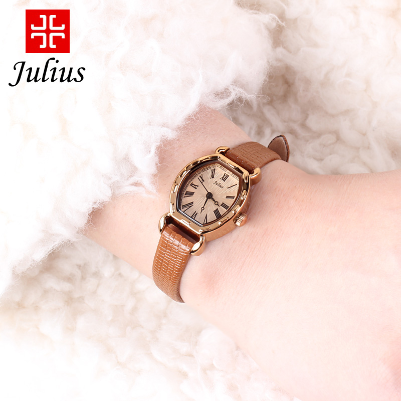 聚利時韓國 潮流女表 簡約防水複古皮帶學生手表時裝石英表
