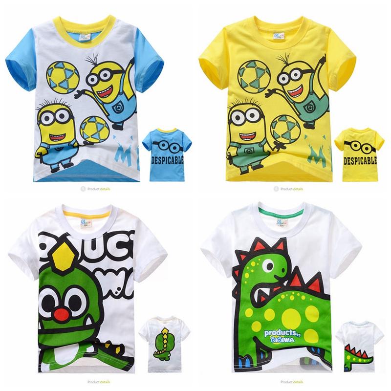 Летняя распродажа на летних детей дети мультфильм хлопок футболка Детская рубашка с коротким рукавом