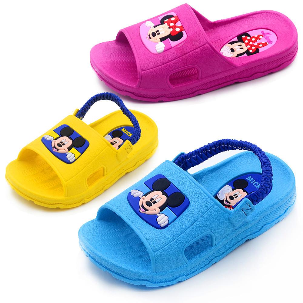 寶寶拖鞋夏迪士尼米奇兒童涼拖鞋男童居家鞋女童洗澡浴室拖鞋防滑