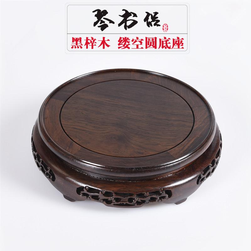 紅木底座紫砂壺底座圓形底座實木 花瓶魚缸底座花盆景佛像底座
