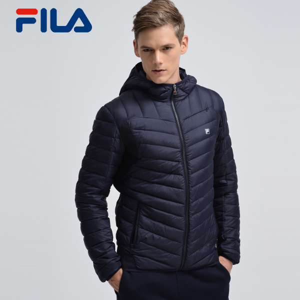 FILA Fila jacket male winter new lightweight down jacket male thin coat solid color 25643910A