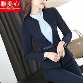新款职业装女装套装春秋长袖西装套裤女士正装修身工作服面试A126