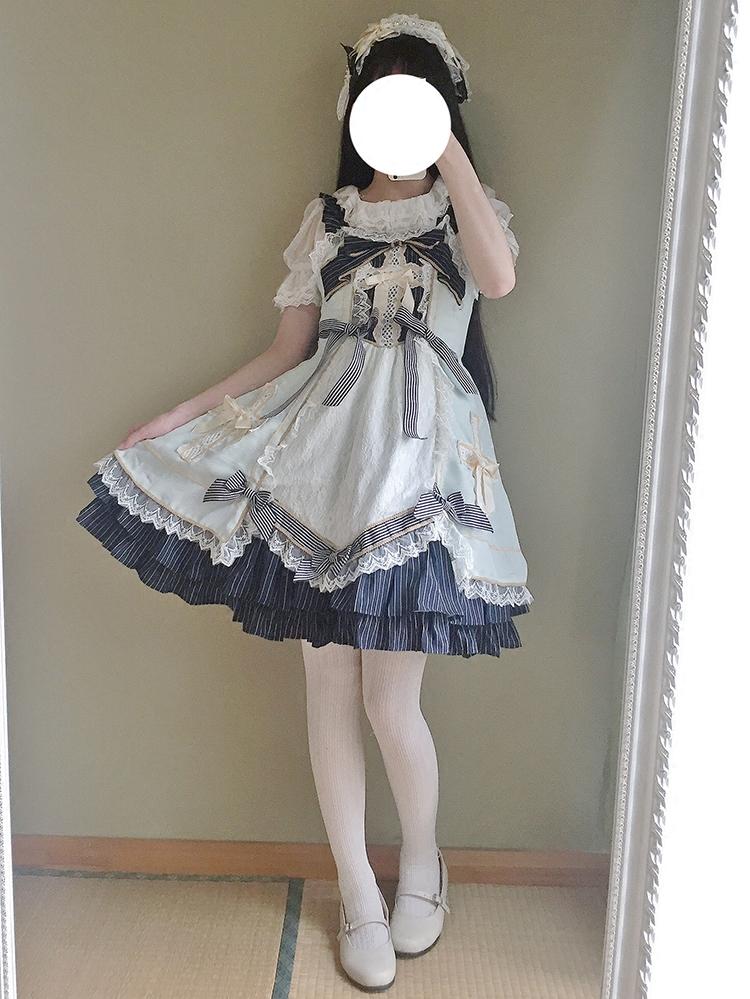 baby 藥箱洛麗塔 復古日系軟妹洋裝三色公主蕾絲JSK連衣裙