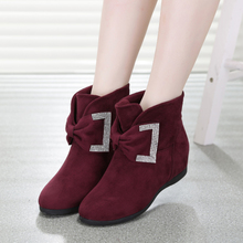 Nina west butterfly winter 2015 college female increased within short boots flat diamond suede boots cotton shoes, leisure shoes