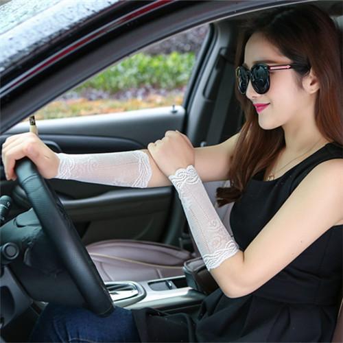 夏季女遮盖疤痕蕾丝护腕护臂护肘护大臂遮纹身防晒袖套手套护手腕