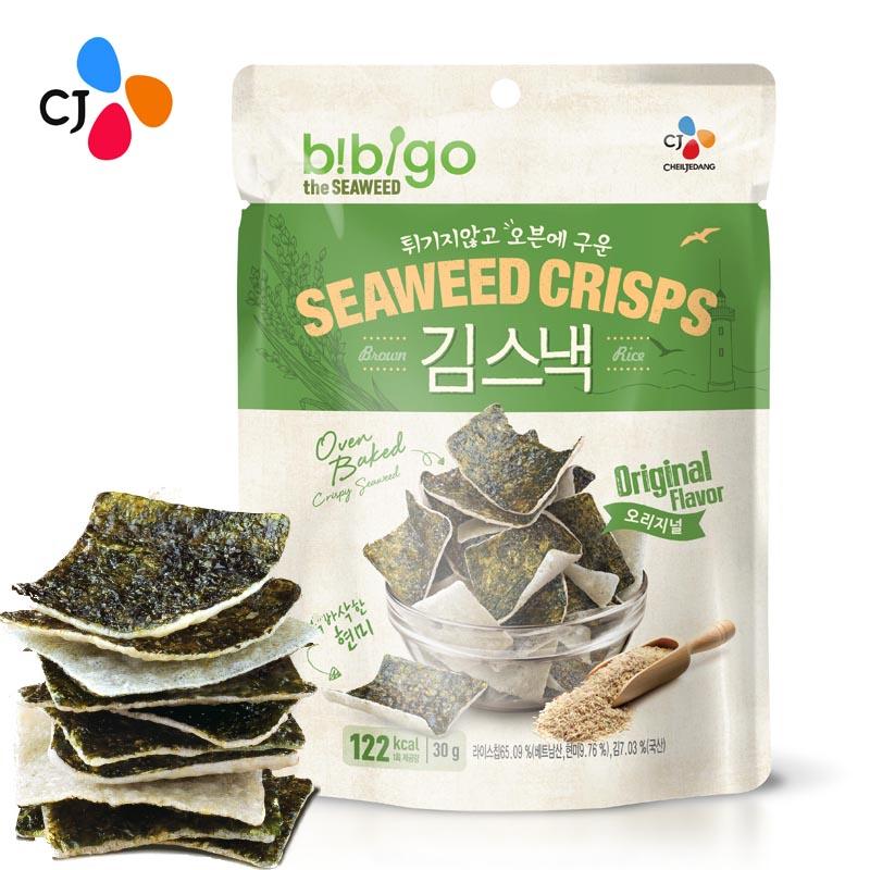 ~天貓超市~希傑 必品閣韓國 bibigo海苔米餅脆(原味)30g