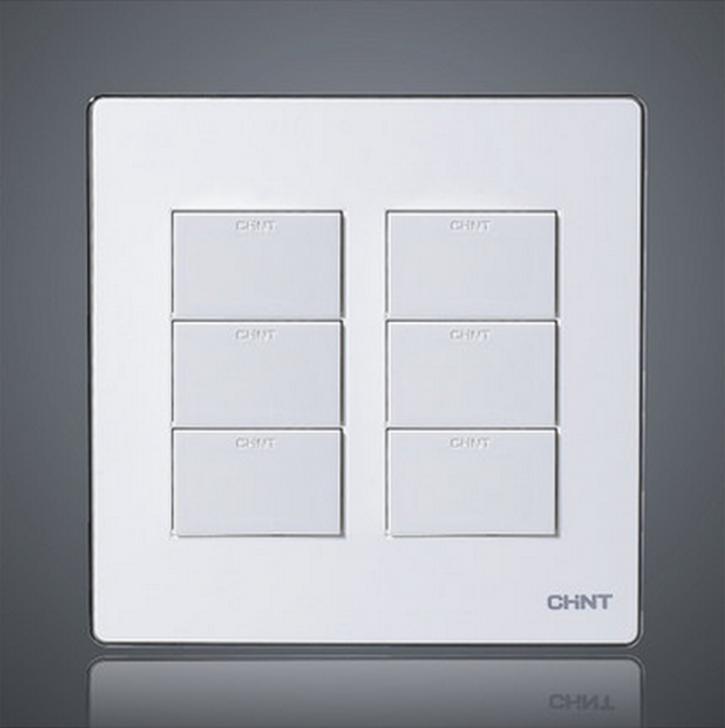 正泰电工120型NEW9E白色银边墙壁开关插座120*120 白板 空白盖板