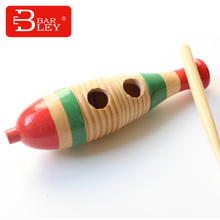 Barley bailey music teaching AIDS frog fish Shaving wooden fish Children percussion Croak drum wood frog barrels
