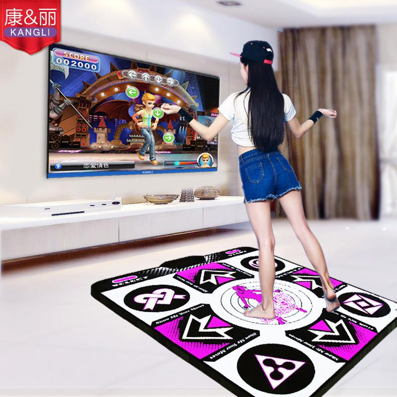 康丽无线感应跳舞毯单人电脑电视两用接口加厚减肥跳舞机家用包邮
