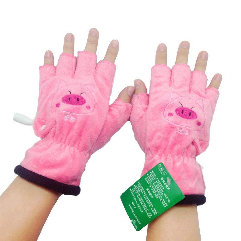 Ирак теплый ребенок USB электрическое отопление перчатки мультфильм животных переполнение пальцы перчатки USB отопление рука теплом теплая рука перчатки
