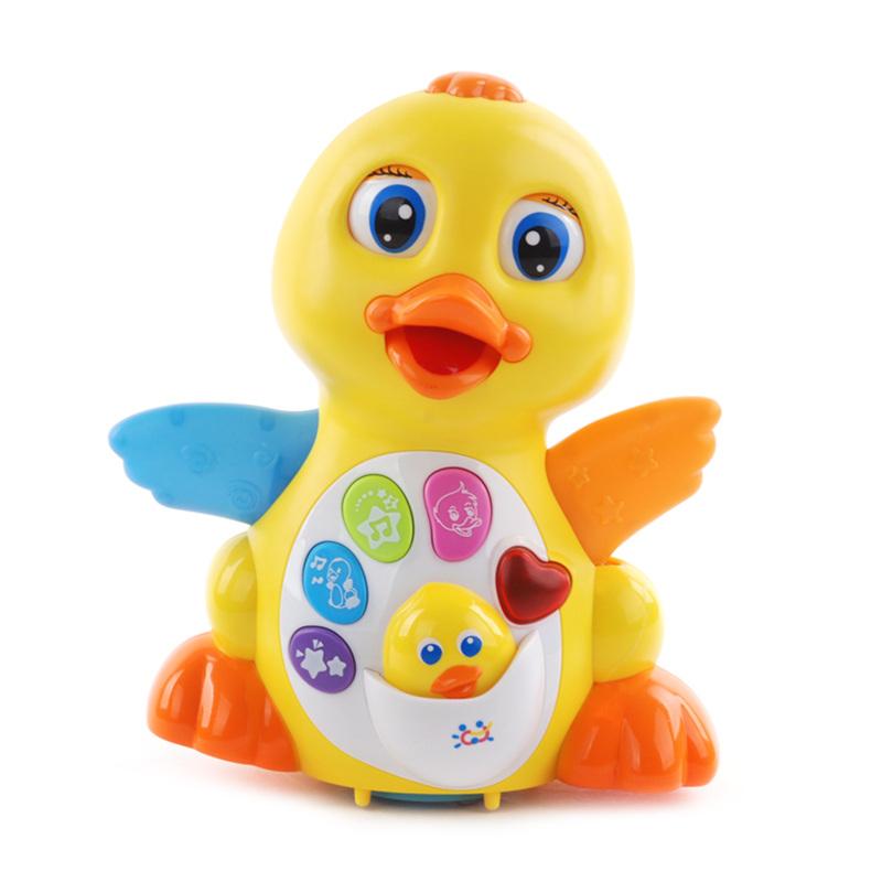 包郵彙樂玩具808EQ搖擺鴨子電動萬向聲光音樂學爬行學步嬰兒寶寶