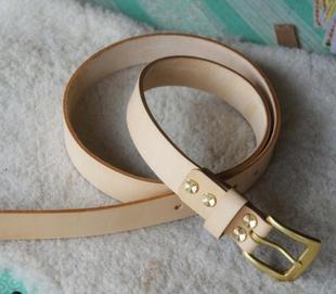Italian vegetable tanned leather belt leather belt leather belt buckle copper screws 2 9 Bandwidth belt tide