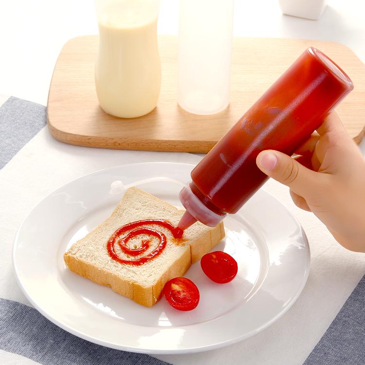 厨房塑料沙拉酱蜂蜜挤压瓶挤酱瓶调料佐料盒调味瓶罐酱瓶家居用品1.60元包邮