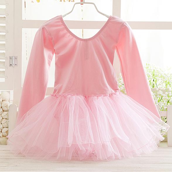 Postal girls dance clothes, practice clothes, ballet skirt, performance clothes, childrens long sleeved yarn skirt, one-piece skirt, fluffy skirt