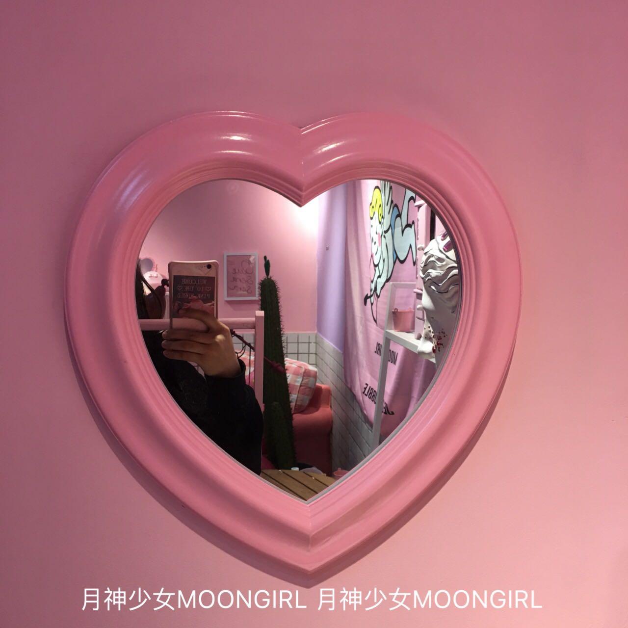 * месяц бог девушка * автономный сделанный на заказ любовь зеркало могут быть связаны стена