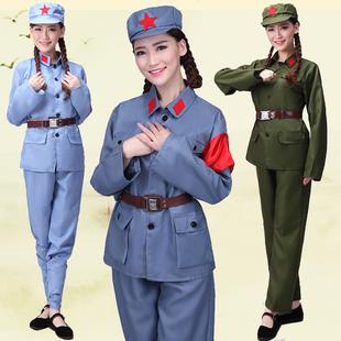 成人八路军演出服合唱服男女红军衣服抗战服装红卫兵军装表演服