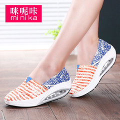 MI Ka lazy fall 2015 the Korean version of foot thick-soled canvas shoes and leisure shoes foot shaking shoes women's shoes