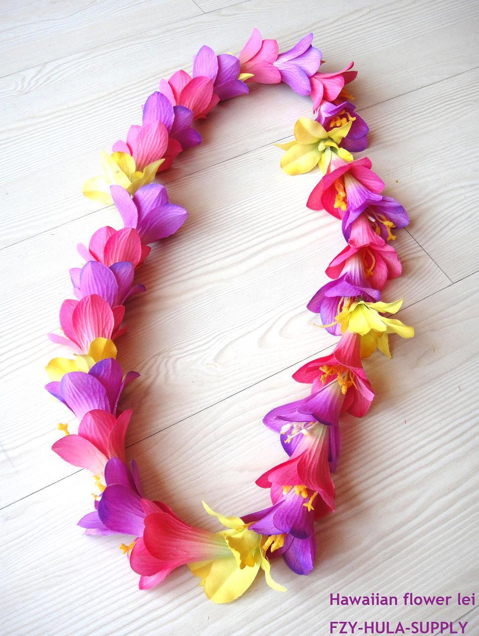 夏威夷草裙舞花环舞蹈道具颈环表演配饰Hawaii hula lei沙滩花环