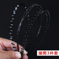 Mens Hair Hoop South Korea simple sports headdress invisible face wash female hairpin sleeping head hoop Hair Grotto male Hair Belt Card