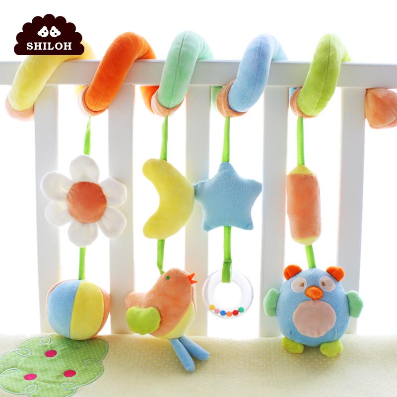 SHILOH婴儿玩具新生儿安抚床绕毛绒男女孩床铃床挂车挂宝宝摇铃