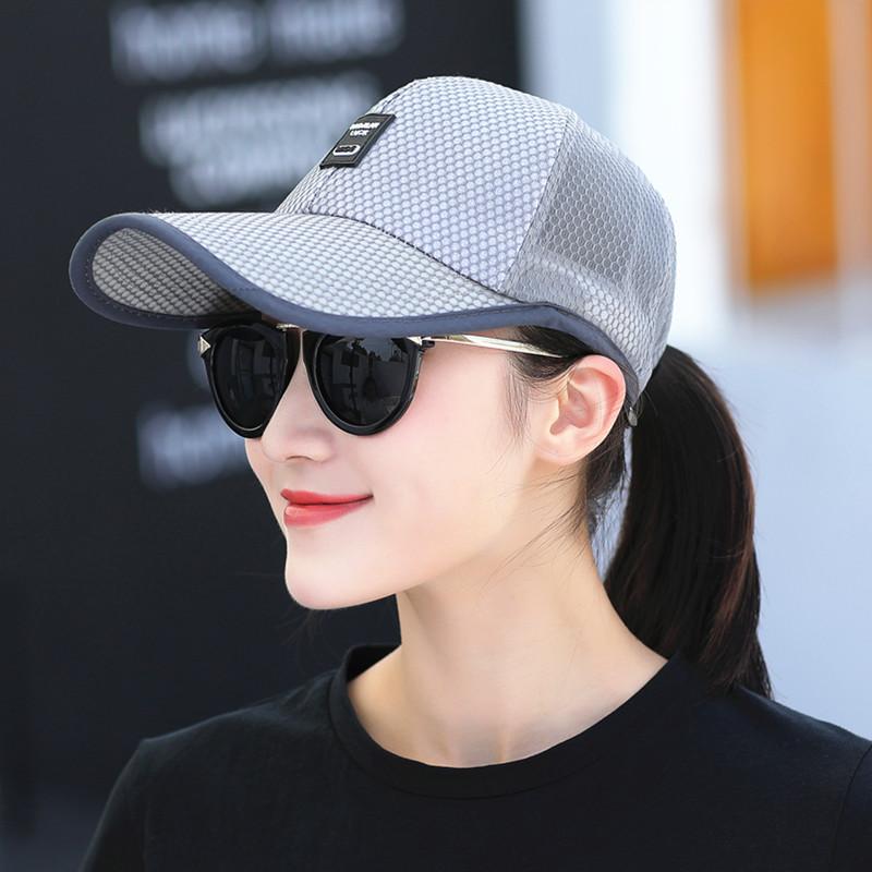 帽子女士夏天防曬帽戶外網帽 百搭棒球帽鴨舌帽男太陽帽遮陽帽