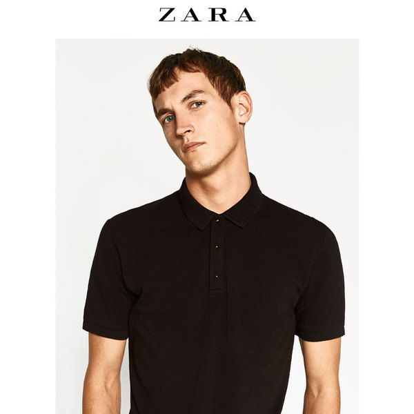 ZARA men's gold buttons POLO shirt 00761401800