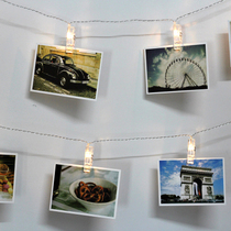 DIY creative photo wall LED photo photo wall clip light string bedroom bedroom decoration dress up