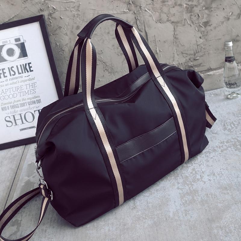 Из разница короткий способ сумка мужской и женщины портативный плечо диагональ багаж пакет путешествие багаж мешок большой потенциал фитнес пакет волна
