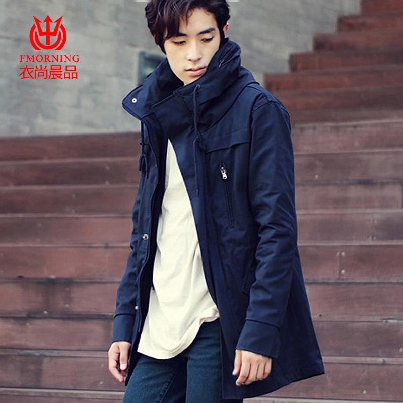 Весной и осенью в корейской версии slim мужчин пальто долго Англии факультет молодых тонкого хлопка случайных tide куртка