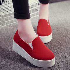 Hero sheep fall 2015 Le Fu, thick-soled shoes women shoes leisure shoes flat lazy people pedal shoes canvas shoes wave