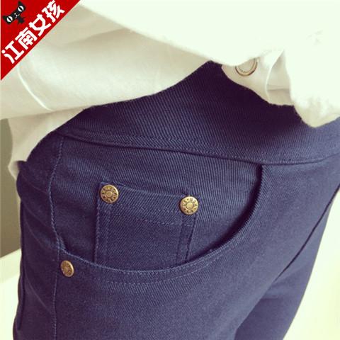 黑色加絨加厚高腰打底褲