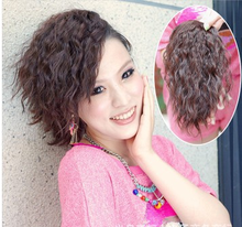 Fashion girl multi-function curly hair Can Liu Haike horsetail can reissue a new wig simulation to generate volume