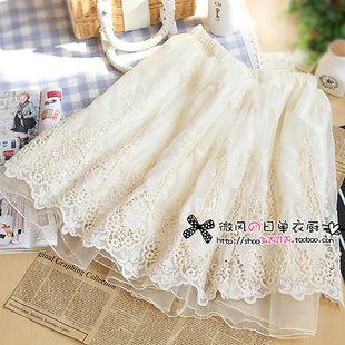 2014 spring new South Korea imports purchasing the same paragraph lace skirts embroidered tutu skirt bottoming