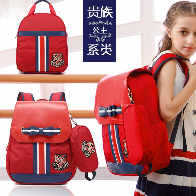 小�W生��包女孩1-3-4-5-6一年�三四五�和��p肩�p��o脊背包女童