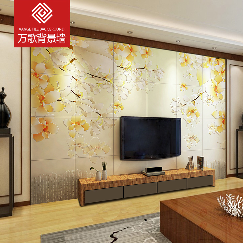Ceramic tile background wall 3D three-dimensional modern simple living room TV background wall ceramic tile garden porch wall Lancome