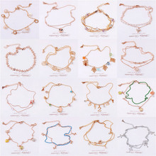 Japanese han edition set auger color preserving anklets alloy plating layers of foot ornaments ankle chains night market street source of female