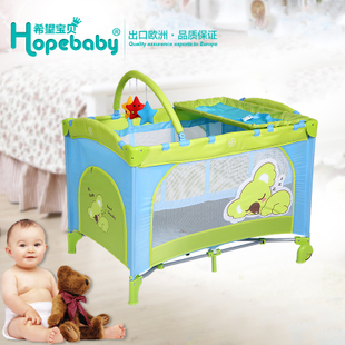 Folding cot export to Europe two story multi purpose portable playpen practical safety of children of non wood bed