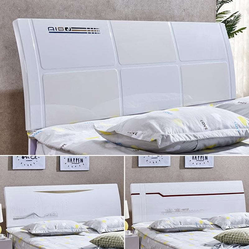 Прикроватный доска простой современный прикроватный спинка тарелка двойная людская кровать глава 1.5 метр 1.8 экономического типа белый лак прикроватный доска