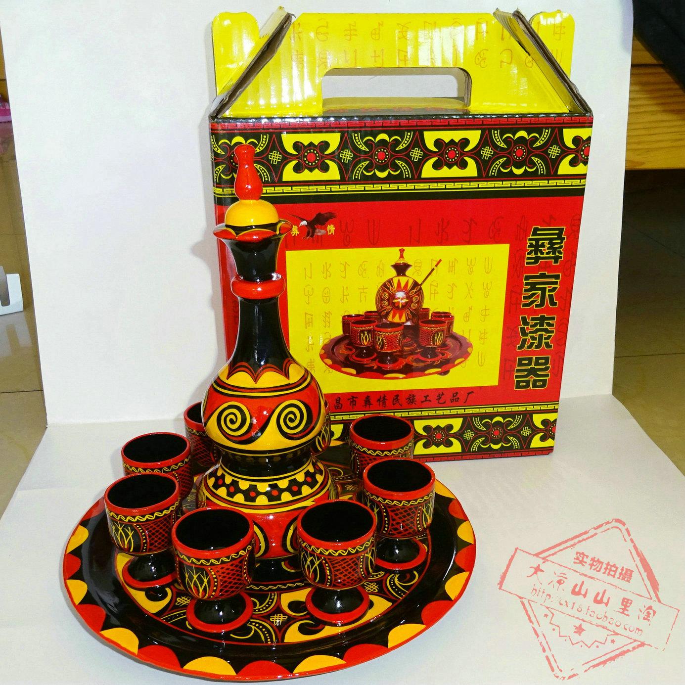 Бесплатная доставка большой прохладно гора Yi гонка люди между краски устройство окрашенный исключительно вручную искусство статья тыква ликер чайный набор подарок s качели установить