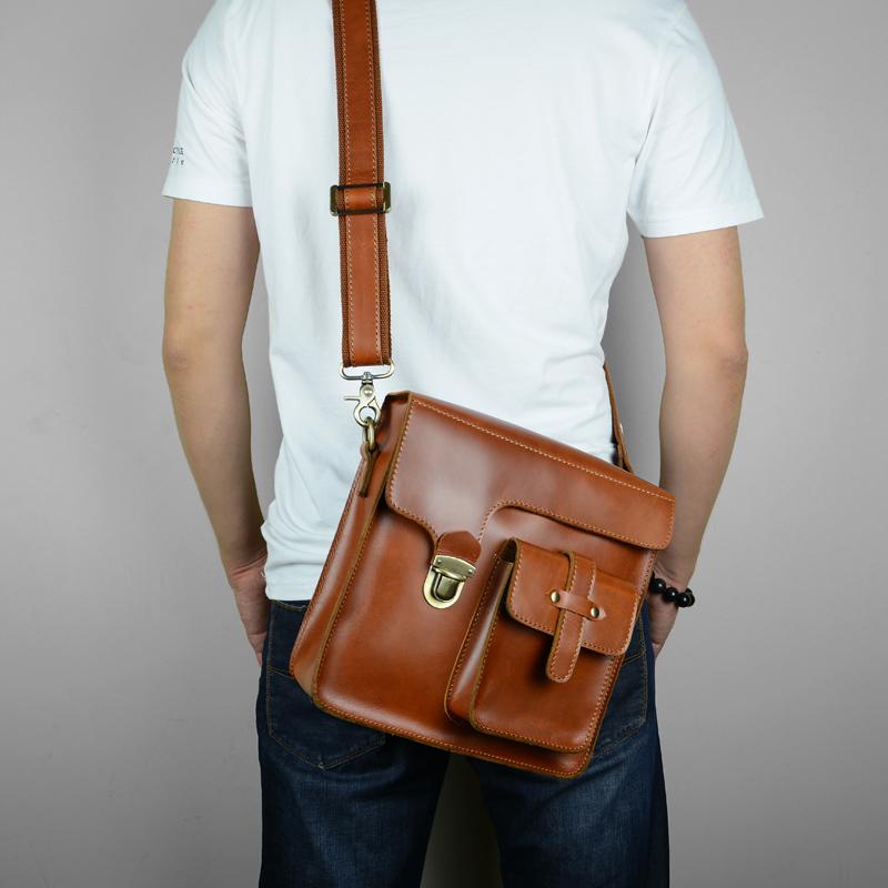 Оригинальный дизайн ручной воск кожи первого слоя кожи человека мешок сумка кожаный Crossbody стиль отдыха Чао Бао Xin