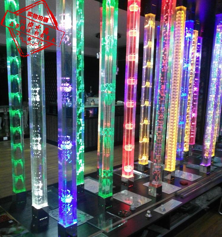 Кристалл колонка стекло колонка декоративный колонка свет столб хорошо мельница 3D резьба кристалл квадрат колонка гостиная отрезать стена вход колонка