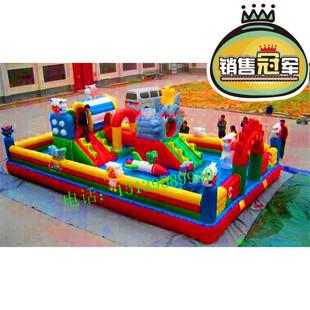 2016 продаваемых моделей сияющей газированный замок комнатный парк площадь ребенок игрушка рай слайды перейти батут