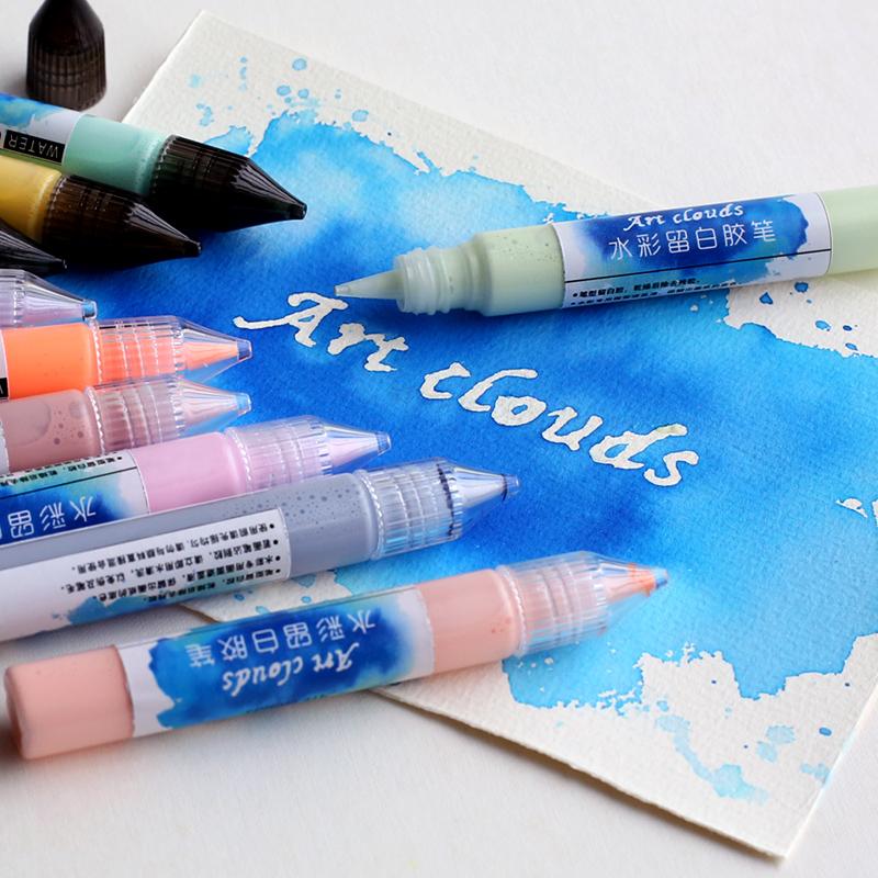 Акварель оставаться белый пластик карандаш карандаш стиль пребывание белый жидкость акварель оставаться белый пластик акварель крышка блок жидкость многоцветный