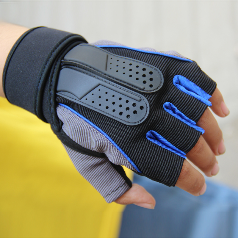 Summer outdoor sports antiskid Fitness Gloves dumbbell weight lifting cycling Fitness Gloves mens wrist guard Half Finger Gloves womens