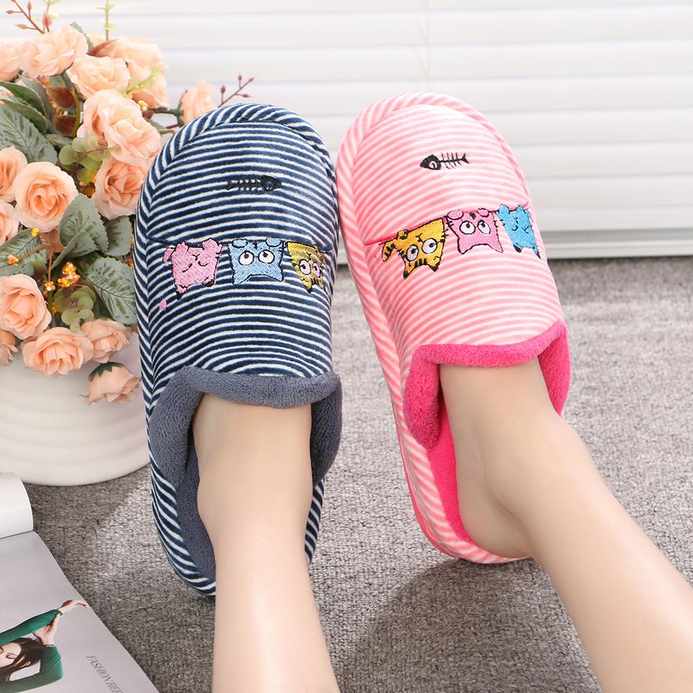 棉拖鞋女冬情侶可愛保暖室內居家居牛筋底 防滑厚底棉拖鞋包跟