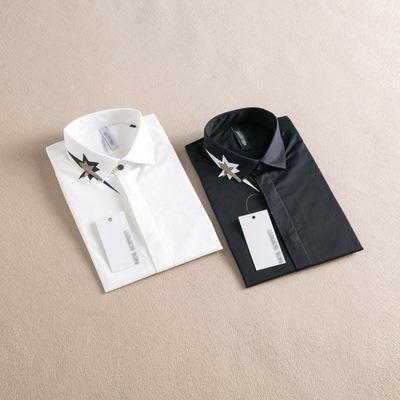 15秋冬新品男装 男士休闲修身长袖衬衫 男款棉质衬衣 RM678